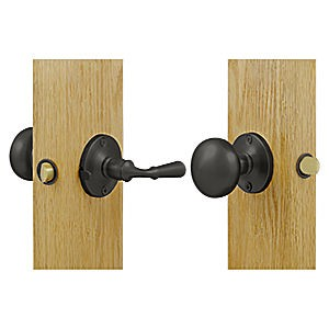 Deltana SDL980U10B Storm Door Latch, Round, Tubular Lock, Oil Rubbed Bronze (Each)