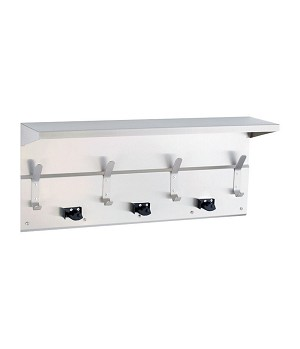 Gamco US-5 Utility Shelf 34', 3 Holders, 4 Hooks