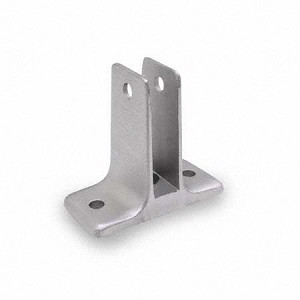 Jacknob 1563 Wall Bracket Two Ear 1/2', Stainless Steel
