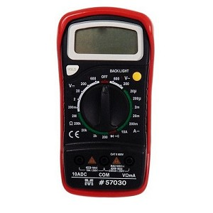 Morris 57030 Digital Multimeter with Rubber Holster