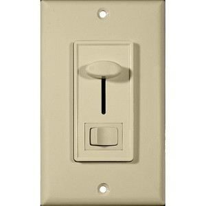 Morris 82750 Slide Dimmer with Switch Ivory Single Pole
