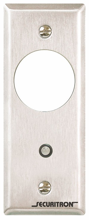 Securitron MKN Mortise Key Switch Momentary, Narrow