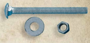 "Snug Cottage FP-CB535 HDG Carriage Bolt, Nut, & Washer 3-1/2"" x 1/2"""