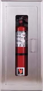 Strike First 526-EL Fully-Recessed Extinguisher Cabinet, Safeguard Stainless Steel