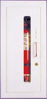 Strike First 218-EL Semi-Recessed Extinguisher Cabinet, Stainless Steel