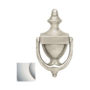 Baldwin 0102055 Door Knocker Lifetime Bright Nickel Finish