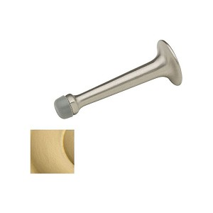 "Baldwin 4050040 3-3/4"" Wall Bumper Satin Brass Finish"