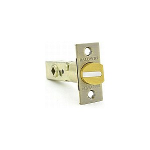 "Baldwin 5510050 2-3/8"" Estate Knob Passage Latch Antique Brass Finish"
