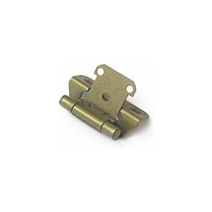 "Amerock CM7566BB 1/4"" (6 mm) Overlay Self Closing Partial Wrap Cabinet Hinge Burnished Brass Finish"