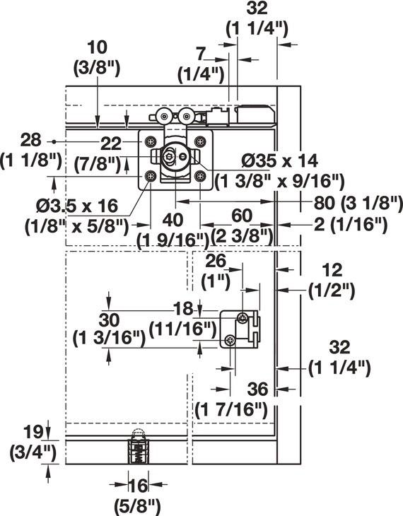 Hafele 405.02.404 Sliding Door Hardware